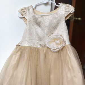 Girls Gold Toddler Dress - Size 4t
